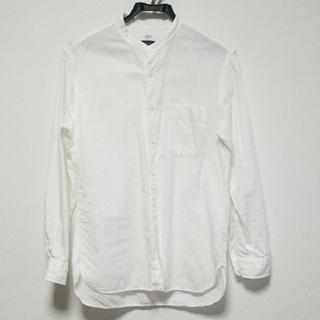 UNIQLO - ユニクロ リネンコットンスタンドカラーシャツ メンズSサイズ