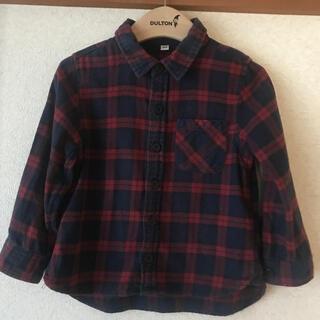 ムジルシリョウヒン(MUJI (無印良品))の【無印良品】長袖チェックシャツ、size 100(ブラウス)