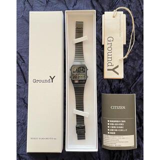シチズン(CITIZEN)のGround Y × CITIZEN ANADIGI TEMP 004/200(腕時計(デジタル))