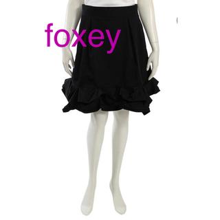 フォクシー(FOXEY)の♥FOXEY NY フォクシー スプラッシュヘムスカート♥(ひざ丈スカート)