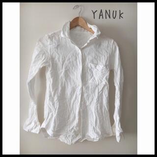 ヤヌーク(YANUK)のYANUK コットン 白シャツ(シャツ/ブラウス(長袖/七分))