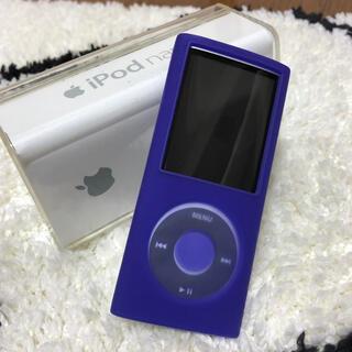 アイポッド(iPod)のiPod nano 第4世代 8GB シルバー(ポータブルプレーヤー)