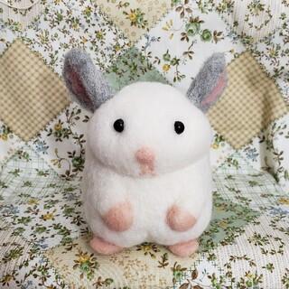 まんまるチンチラさん♡ 羊毛フェルト ハンドメイド(ぬいぐるみ)