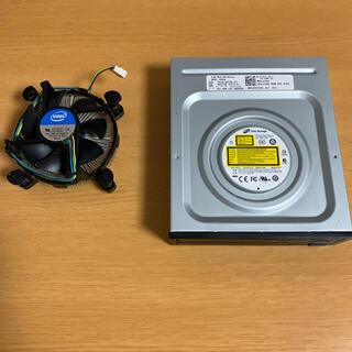 インテレクション(INTELECTION)のCPUクーラーとDVDドライブ(PC周辺機器)
