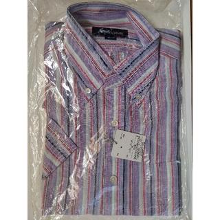 アクアスキュータム(AQUA SCUTUM)のAquascutumの男性用半袖シャツ(サイズM、麻100%、日本製)(シャツ)