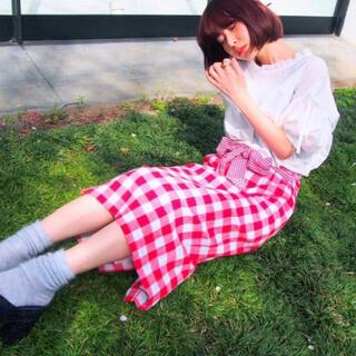 メリージェニー(merry jenny)のギンガムいっぱいスカート  (ロングスカート)