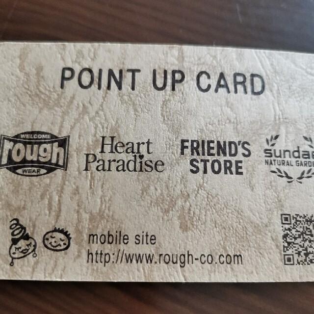 rough(ラフ)のrough ポイントカード チケットの優待券/割引券(ショッピング)の商品写真