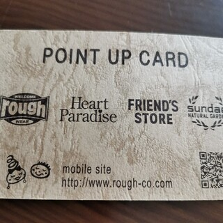 ラフ(rough)のrough ポイントカード(ショッピング)