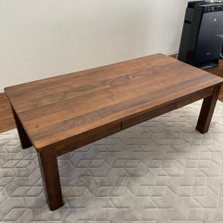 東京インテリア ローテーブル 引き出し付 ウォールナット(ローテーブル)