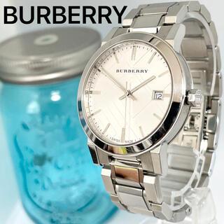 BURBERRY - 232 BURBERRY時計 メンズ腕時計 新品電池 ホワイト文字盤