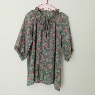 Ameri VINTAGE - vintage 花柄ブラウス