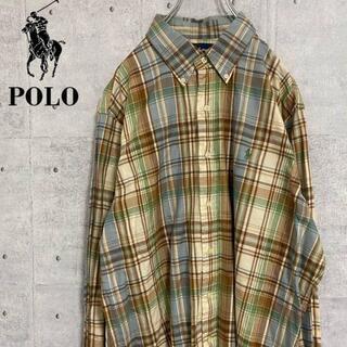 ポロラルフローレン(POLO RALPH LAUREN)のポロ ラルフローレン チェックシャツ ワンポイント チェック柄 L(シャツ)
