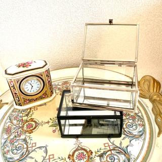 MUJI (無印良品) - クリア ガラス ボックス  H&M 新品未使用 シルバー