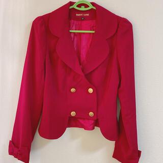 ボディライン(BODYLINE)の【BODY LINE】赤ジャケット (レディースMサイズ)(衣装)