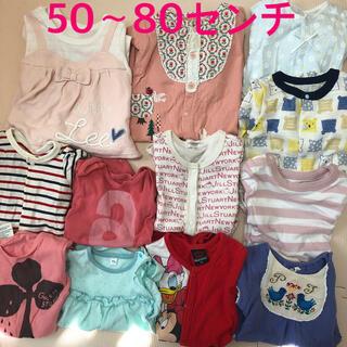 プチジャム(Petit jam)のまとめ売り子供服 50センチから80センチ ベビー 12枚 セット 女の子(ロンパース)