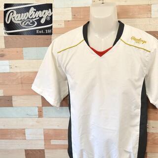 Rawlings - 【Rawlings】 美品 ローリングス ホワイトシャツ アシックス 野球 M