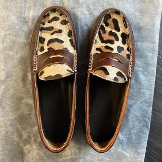 ハラコ素材のブラウンの靴(スリッポン/モカシン)