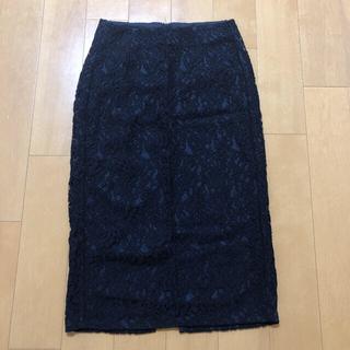 ジーユー(GU)のジーユー レースタイトスカート(ひざ丈スカート)