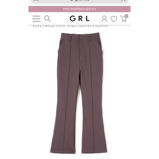 GRL - GRL グレイル フロントタックフレアパンツ モカ S