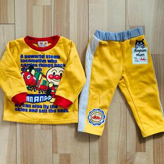 アンパンマン - 【上下セット】アンパンマン トレーナー ズボン 裏起毛 長袖 長ズボン 90