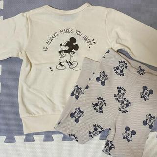 Disney - ミッキートレーナー レギンス SET 100㎝