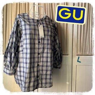 ジーユー(GU)のジーユー ボリュームスリーブ 2way(シャツ/ブラウス(長袖/七分))