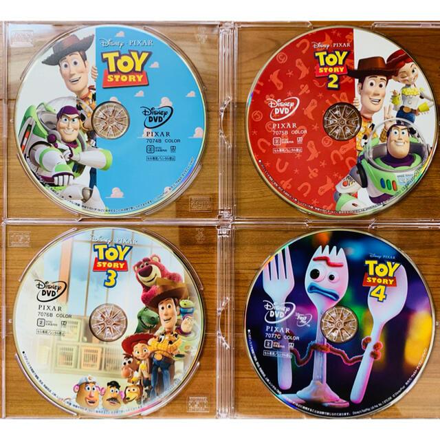 トイ・ストーリー(トイストーリー)のトイストーリーDVD 1234セット DVDのみ 新品未再生品 エンタメ/ホビーのDVD/ブルーレイ(キッズ/ファミリー)の商品写真