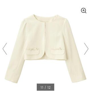 ジーユー(GU)のジーユー ボレロ ジャケット 白 120(ドレス/フォーマル)