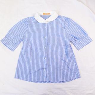フィント(F i.n.t)の■F i.n.t ブラウス ブルー レディース(シャツ/ブラウス(半袖/袖なし))