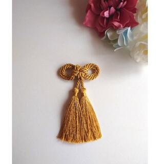 髪飾り 二重叶結び(ゴールド)卒業式 成人式 七五三(ヘアアクセサリー)
