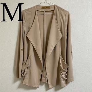 セシルマクビー(CECIL McBEE)のジャケット ベージュ ブラウン 薄手 2way 綺麗め Mサイズ(テーラードジャケット)