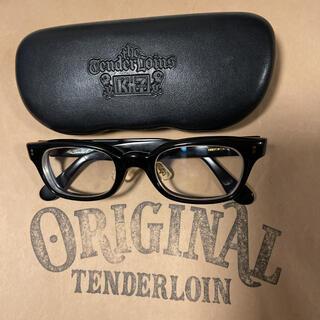 テンダーロイン(TENDERLOIN)の絶版! TENDERLOIN 白山眼鏡 インザウィンド ブラック ゴールド 黒金(サングラス/メガネ)