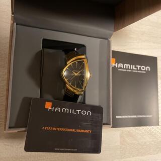 ベンチュラ(VENTURA)の未使用! HAMILTON ベンチュラ H243010 ゴールド ブラック 黒金(腕時計(アナログ))