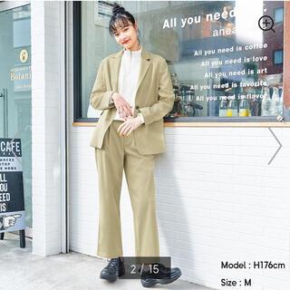 ジーユー(GU)のGUのオーバーサイズジャケットとタックストレートパンツ(スーツ)
