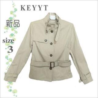 ケティ(ketty)の未使用品【KETTY】ベージュハリコットンベルト付きジャケット*日本製*3 (その他)