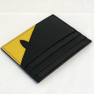 フェンディ(FENDI)のフェンディ FENDI バッグバグズ カードケース カード入れ 名刺入れ 黄色(名刺入れ/定期入れ)