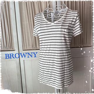 ブラウニー(BROWNY)のブラウニー 薄手Tシャツ カットソー(Tシャツ(半袖/袖なし))