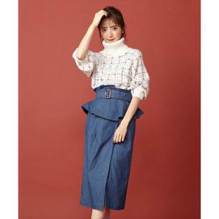 ミーア(MIIA)の未使用★MIIA コルセット付きタイトスカート(ひざ丈スカート)