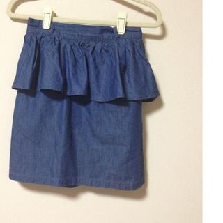 ローリーズファーム(LOWRYS FARM)のペプラムスカート(ฅ'ω'ฅ)♪(ミニスカート)