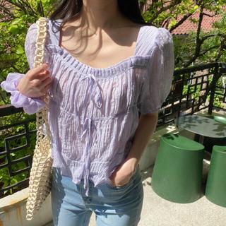 dholic - sherbet square blouse ブラウス
