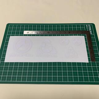 ミリタリー転写シール MAGPUL風 白 ロゴステッカー デカールシート(カスタムパーツ)