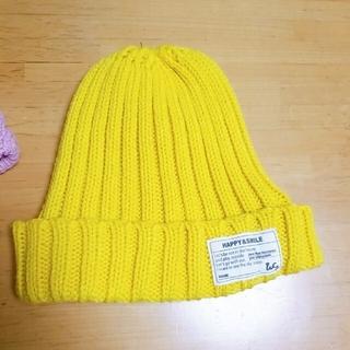 うさぎ耳 イエローニット帽 セット(帽子)