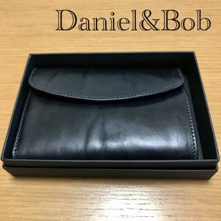 Daniel & Bob - ダニエル&ボブ Daniel&Bob 牛革 財布 三つ折り ネイビー イタリア製