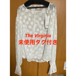 ザヴァージニア(The Virgnia)のThe Virgnia ドット柄キャンディスリーブブラウス ホワイト(シャツ/ブラウス(長袖/七分))