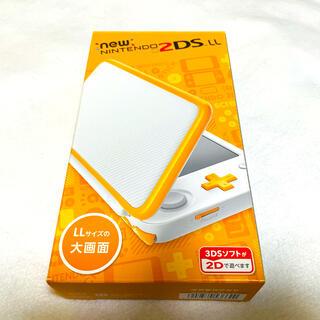 ニンテンドー2DS(ニンテンドー2DS)の☆新品 生産終了品☆ newニンテンドー 2DSLL 本体  ホワイトオレンジ (家庭用ゲーム機本体)