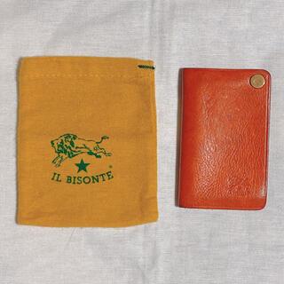イルビゾンテ(IL BISONTE)の《IL BISONTE》カードケース :オレンジ(名刺入れ/定期入れ)