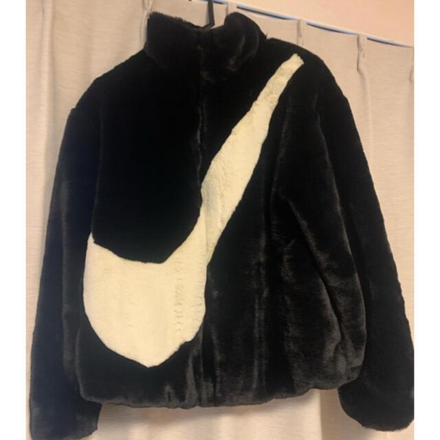 NIKE(ナイキ)のNIKE フェイクファージャケット M レディースのジャケット/アウター(毛皮/ファーコート)の商品写真
