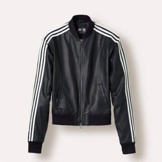 アディダス(adidas)のPharrell Williams × adidas レザージャケット 黒(レザージャケット)