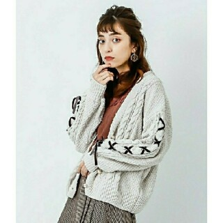 axes femme - 新品未使用品♡アクシーズファム♡レースアップ♡ニットカーディガン