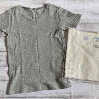 コンビミニ(Combi mini)のcombi mini  コンビミニ V襟半袖Tシャツ 130 2枚(下着)